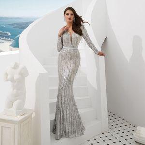 Image 3 - Ruthshen רעיוני שמלה נוצצת שמלת ערב נצנצים מצויץ ערב שמלות Seethrough סקסי בת ים שמלות Abendkleider 2019