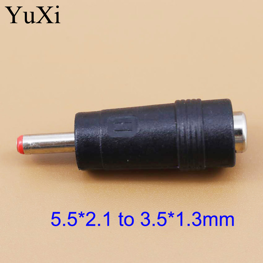 DC Power <font><b>Adapter</b></font> Connector Plug DC Conversion Head Jack Female <font><b>5.5</b></font>*2.1mm Turn Plug Male 3.5*1.3mm <font><b>5.5</b></font> x <font><b>2.1</b></font> mm to 3.5 x 1.3 mm image