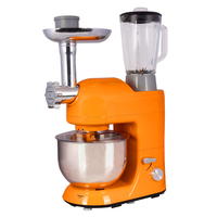 220V/1000W Professional Dough Mixer 5L Multifunction Electric Food Blender Milkshake Beater Cake Mixer With Juicer Grinder