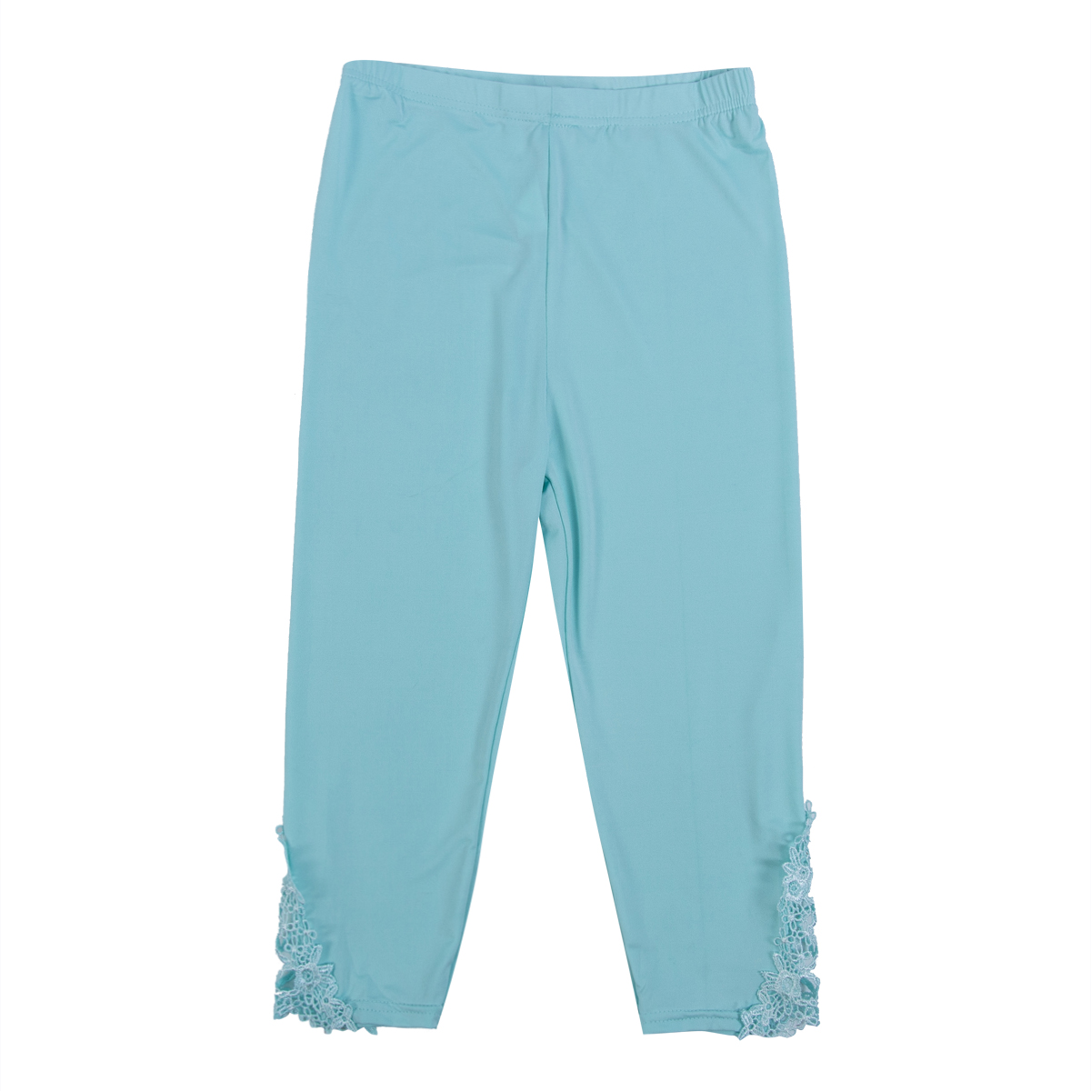 Image 4 - Hot Womens Crop 3/4 Length Leggings Clothes Ladies High Waist Pants Capri Cropped Lace Summer Modal High Quality Pants New-in Pants & Capris from Women's Clothing