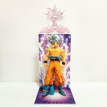 Dragon Ball Z Goku Ultra Instinct Figure Toys Super Son Figurine With Acrylic Bust Base Figura