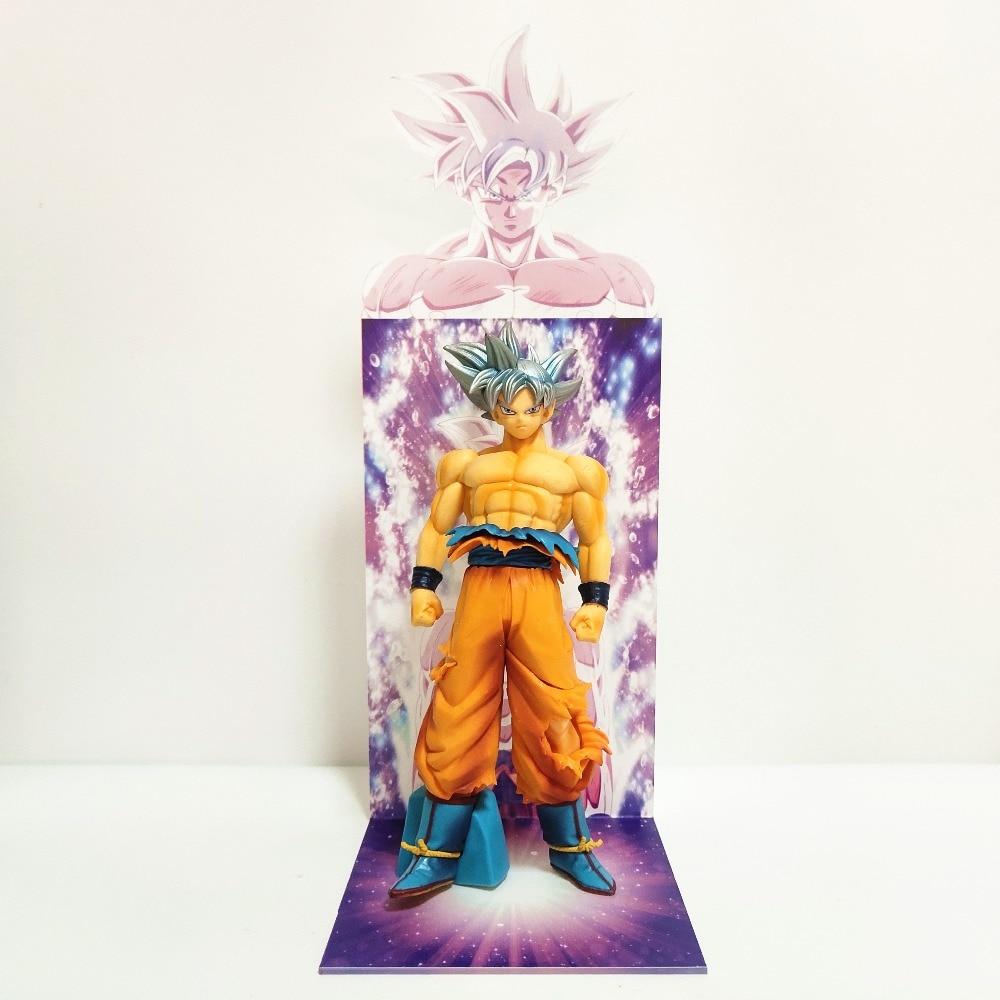 Dragon Ball Z Goku Ultra Instinct Figure jouets Dragon Ball Super Son Goku Figurine avec Base de buste en acrylique Figura