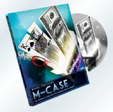 M-Case by Mickael Chatelain (Gimmicks+DVD) Magic Tricks Card Magic Props Close up Magic Comedy Illusions Mentalism image
