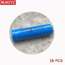 16pcs 14500 TR14500 Battery 3.7V MICKTICK 750mAh Lithium Li-ion Rechargeable Bateria Batteries Universal Wholesale