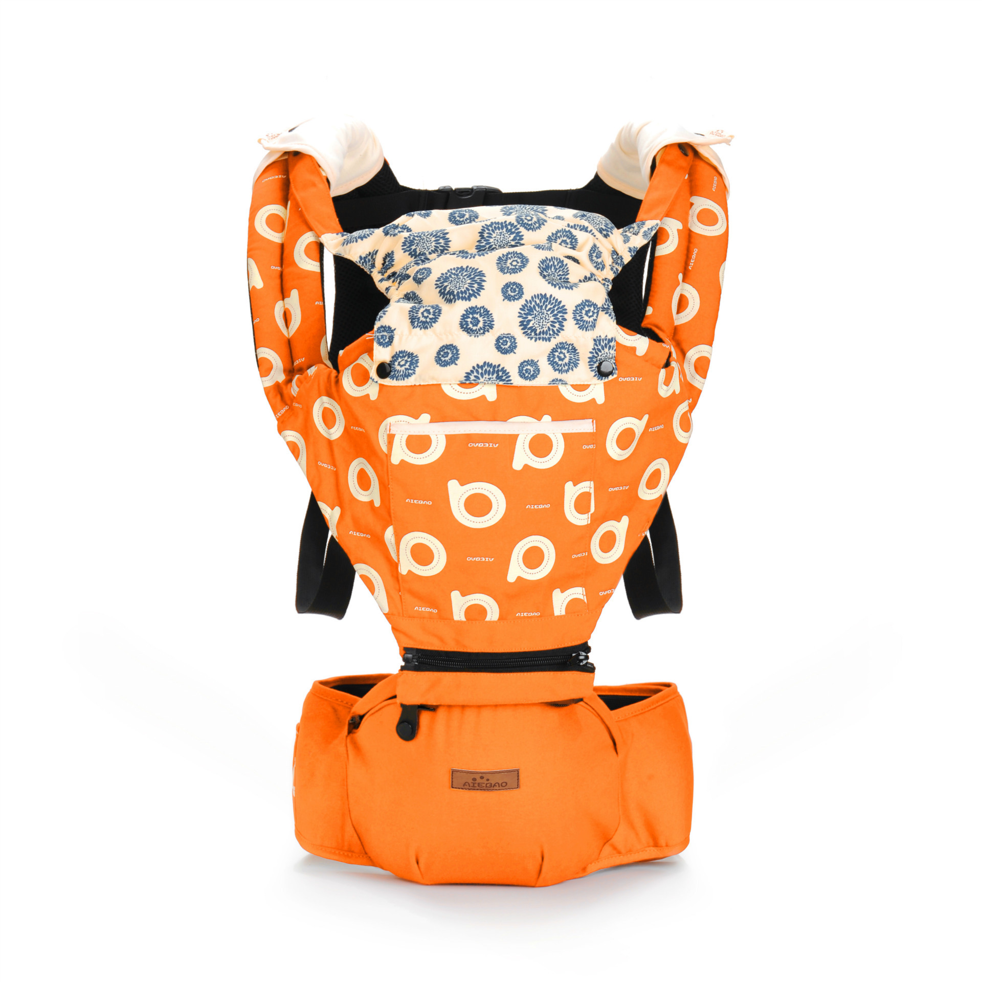 Baby Carrier Backpack Wrap-Sling Hip-Seat Adjustable Infant Kids Cotton With Hood Multifunction
