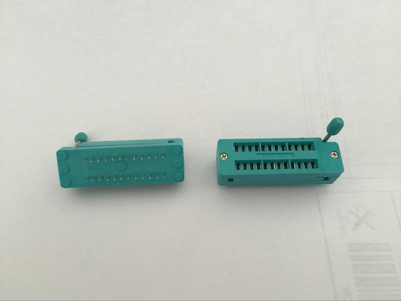 10pcs New 24 Pin Universal ZIF DIP Tester IC Test Socket (wide)YB