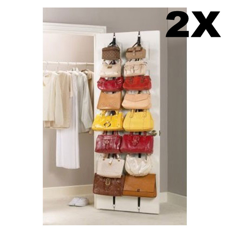 Nice Hot Sale Hanging Hat Clothes Organizer Cap Rack Holder Over Door Straps  With 16 Hook E5M1