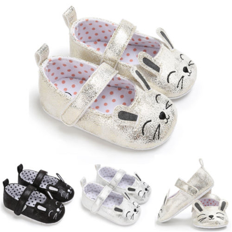 Cute Newborn InfantBaby Girls Shoes Anti-Slip Mouse Crib Shoes Prewalker Soft Sole