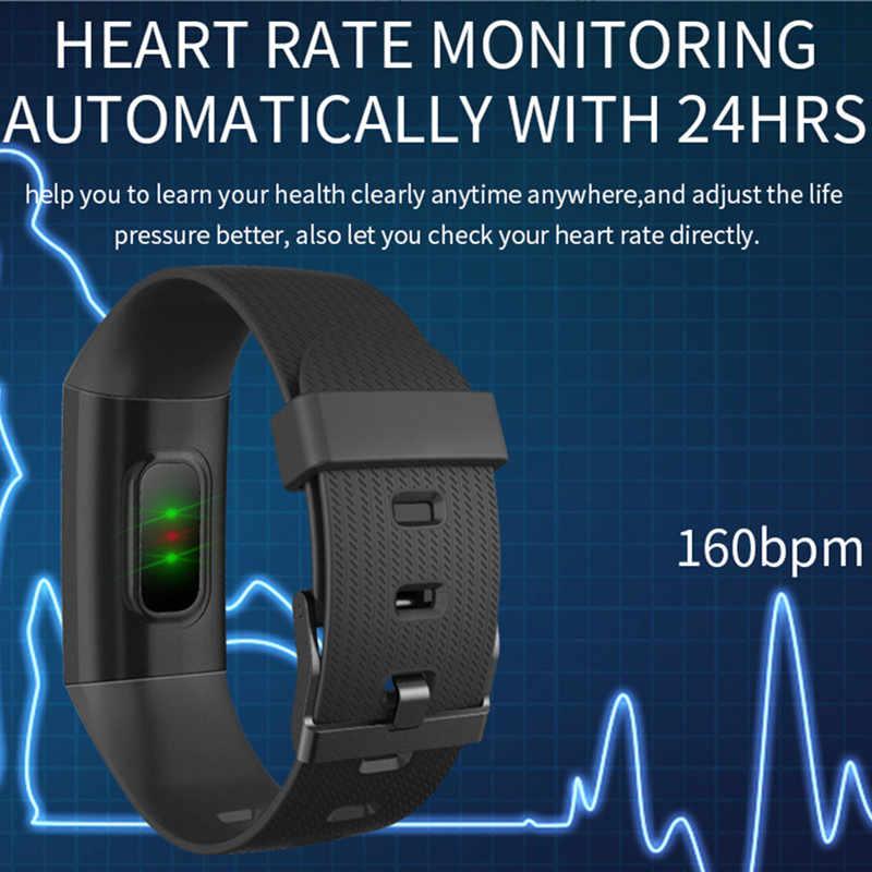 BINSSAW 血液 PressureSmart 腕時計 IP67 防水フィットネストラッカー心拍数モニター 1.14 インチカラー画面スポーツバンド Miband 3