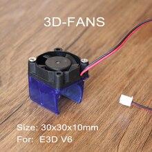 1 set Soğutma Fan 3010 12 V 30x30x10mm ile Enjeksiyon Kalıplı Fan Kanalı Soğutma Fanı 5 bıçakları için 3D Yazıcı Ekstruder V6