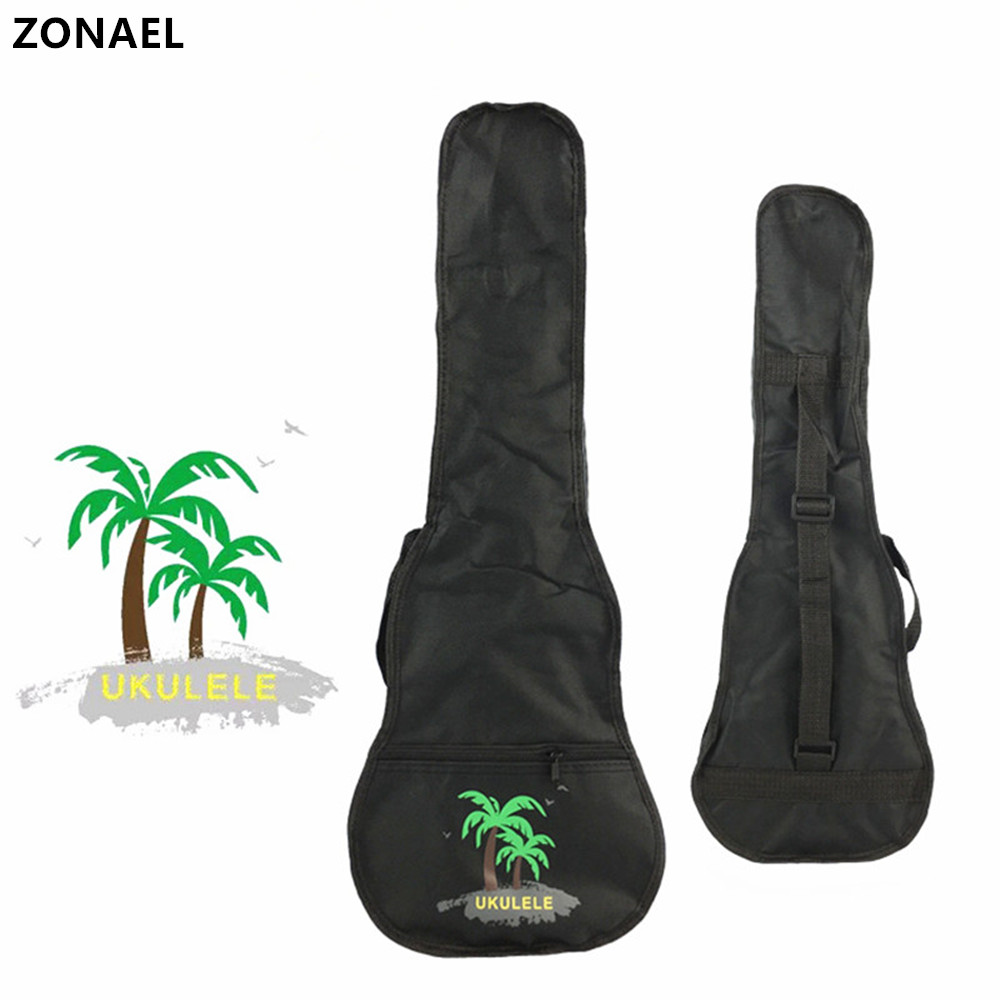 ZONAEL 212326'' Soprano Concert Tenor Ukulele Waterproof Bag Case Backpack Guitar Bag Case Parts With Single Shoulder Strap 95% new for air conditioning computer board circuit board a743701 used board good working