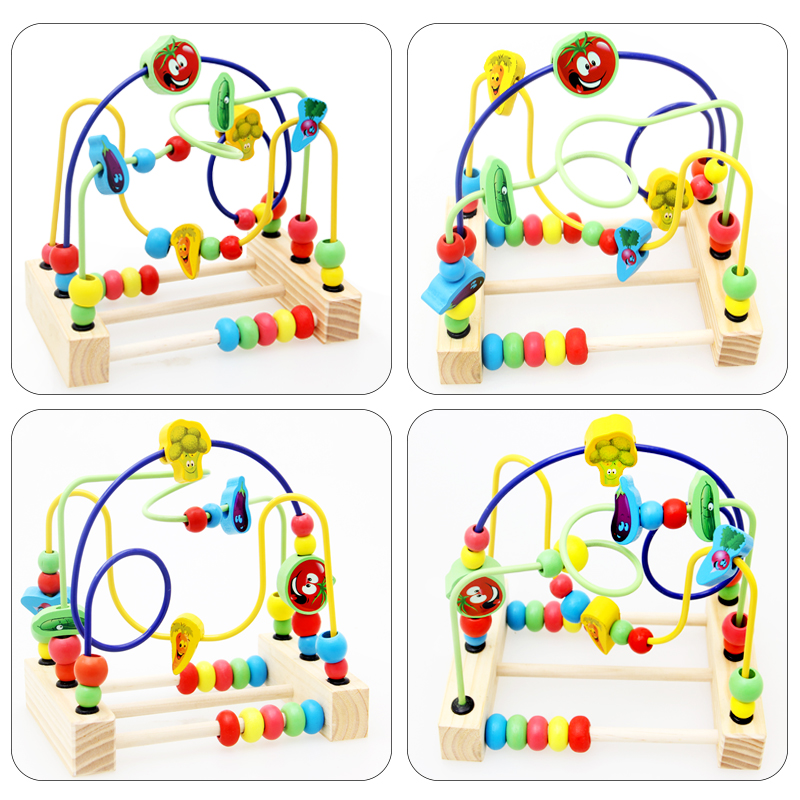 Image 4 - Wooden Math Toy Counting Circles Bead Abacus Wire Maze Roller Coaster Montessori Educational for Baby Kids-in Math Toys from Toys & Hobbies