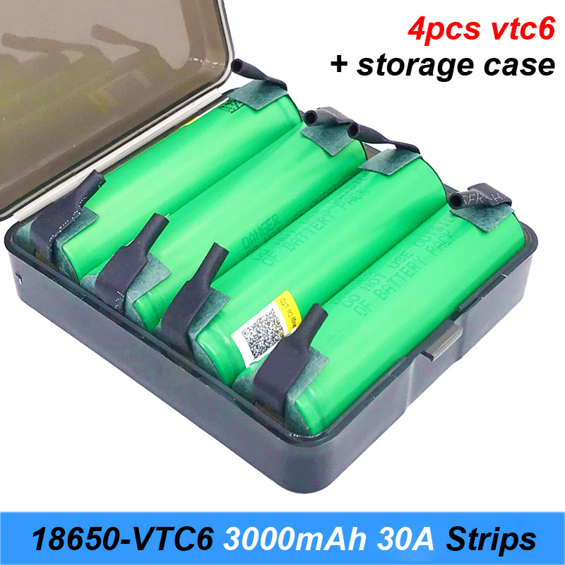 Battery 18650 VTC6 3000mAh 30amps for screwdriver 18650 with strips soldered rechargeable batteries for electric cigarette  AU28