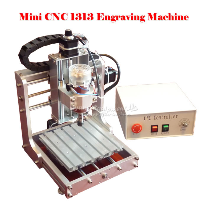 CNC 1313 Mini CNC engraving machine 300W MACH3 DIY CNC wood milling router axis travel 130x130x115mm 1610 mini cnc machine working area 16x10x3cm 3 axis pcb milling machine wood router cnc router for engraving machine