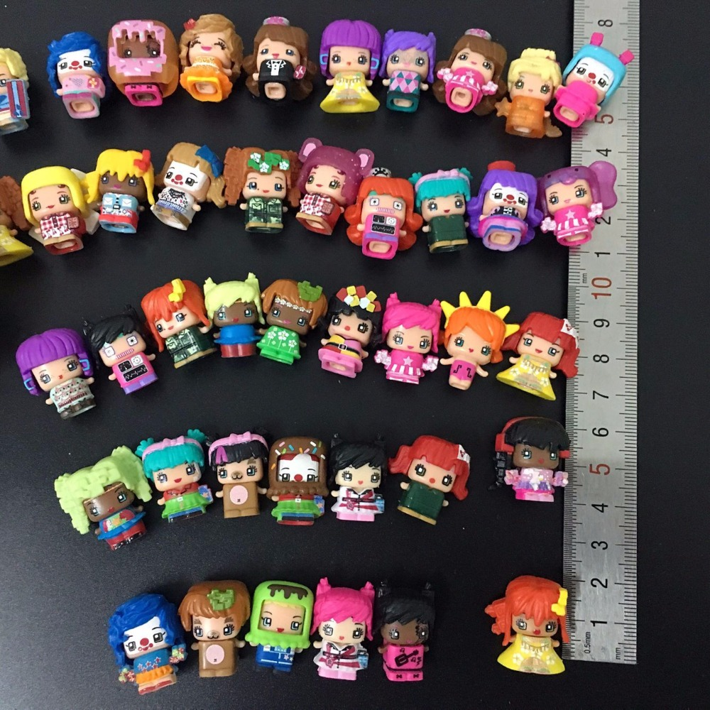 100 Pcs/lot MMMQ's My Mini Mixie Q's Anime Dolls Mixieq's Assembling Girl Model Capsule Toys Action Figures Mixieqs Gift 48pcs lot action figures toy stikeez sucker kids silicon toys minifigures capsule children gift