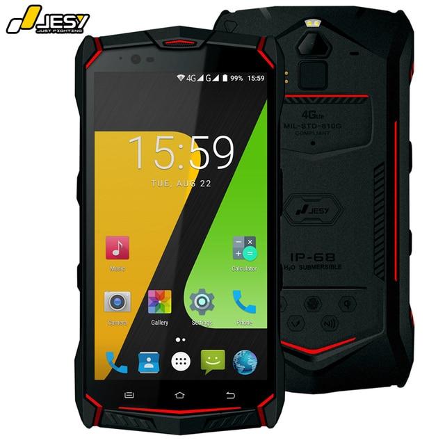 "JESY J9S IP68Waterproof Mobile Phone 4G RAM 64GB 6150mAh Battery 16MP Octa Core OTG NFC Wireless Fingerprint 5.5"" Android 7.0"