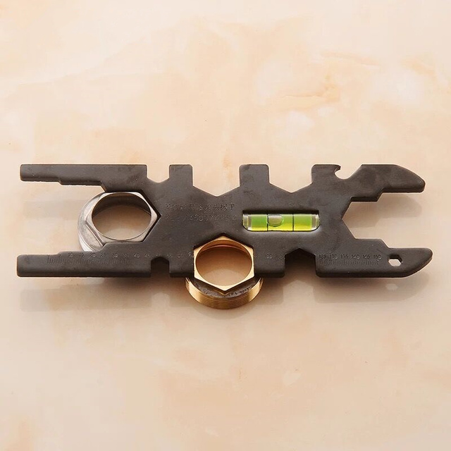 Carbon Steel Mini Wrench Repair Tool Scale / Horizontal Bubble ...