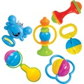 6 PCS /Set Lovely Infant Hand Shake Bell Baby Plastic Rattle Kids Developmental Hand Shake Musical Sound Educational Toys