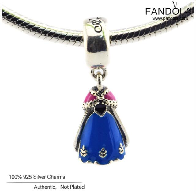 Anna Vestido DIY Beads 925 Sterling-Prata-Jóias Charme Balançar Encantos Jewelry Making Fit Fandola CKK Pulseira