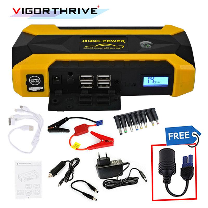 Mini chargeur d'urgence batterie Booster voiture saut démarreur pour essence voiture essence démarrage dispositif 12 V batterie externe décharge d'urgence