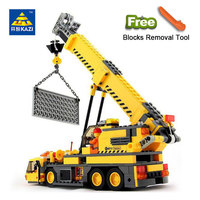 KAZI 8045 Toys City Engineering Building Blocks Compatible Legoed Toys DIY Crane Sets Education Bricks Gifts