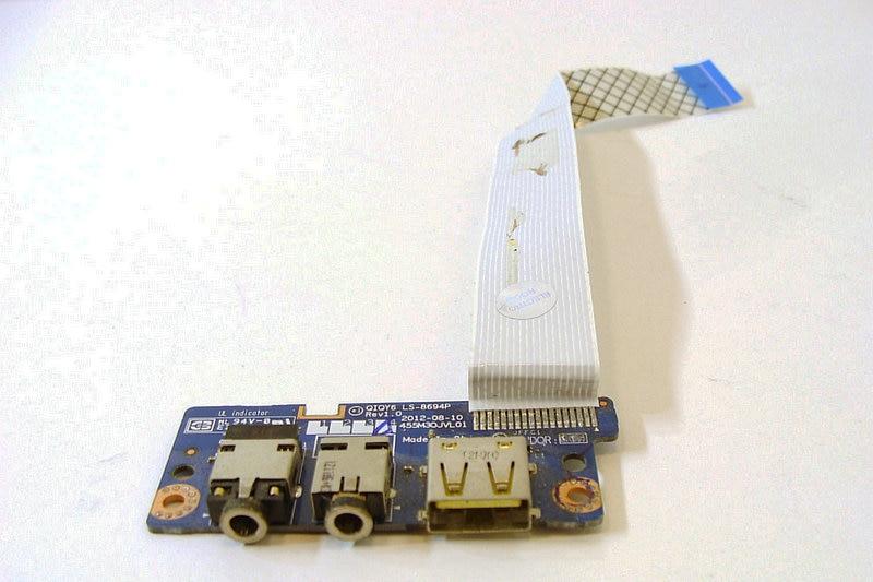 Original For Lenovo Y500 Y510P Usb Audio Board LS-8694p