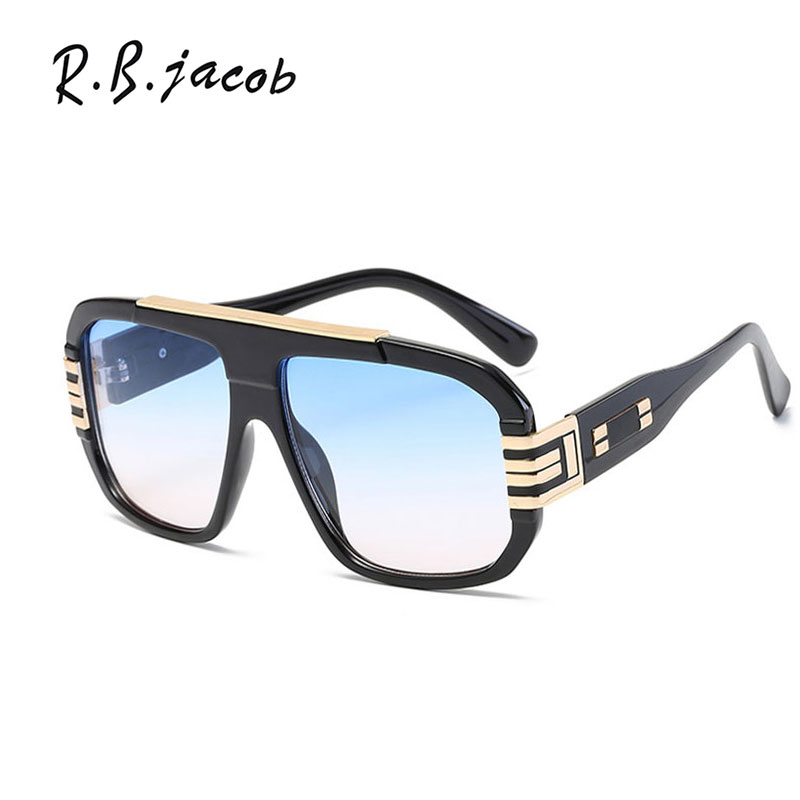 2017 New Style Square Sunglasses Men Summer Cool Leopard Male Eyewear Fashion Trend Plus Size Gafas UV400 Vintage Oculos De Sol