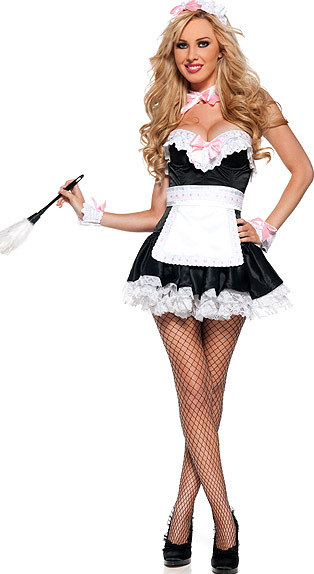 Free Shipping French Kiss Maid Costume 3S1059 Sexy Fancy French Maid Costumes erotic lingerie hot sexy costumes