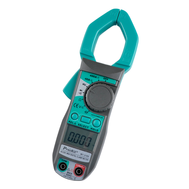 MT-3109 3 3/4 Auto Shift Digital Clamp Meter DC AC Voltage Current Capacity Resistance Tester ac 3 1 2 lcd display automatic manual shift digital clamp meter tester tm 1012 tm1012