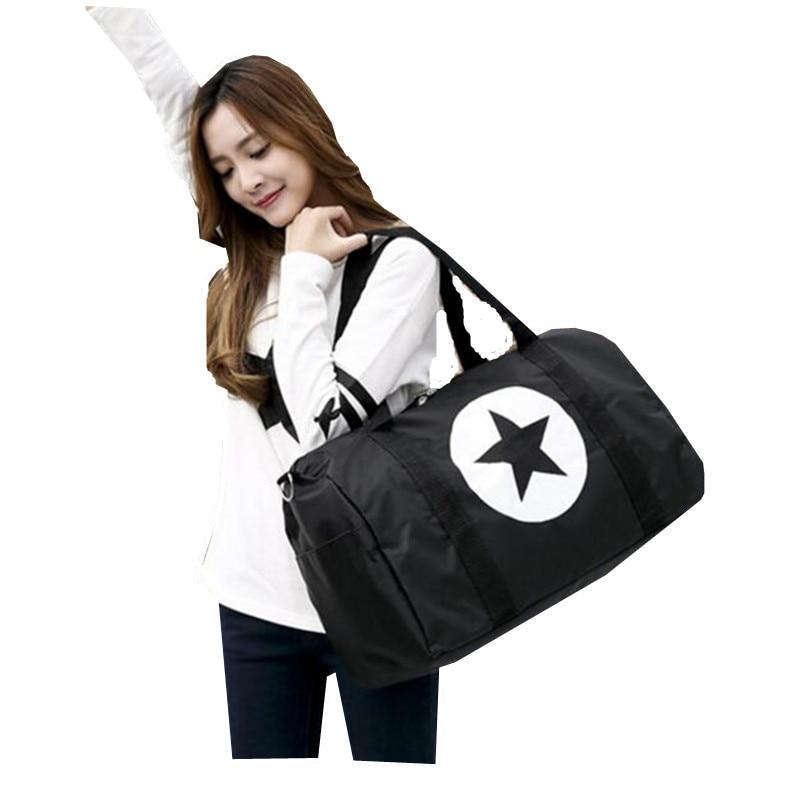 2017 New Nylon Waterproof Travel Bags Large Size Star sac de voyage Women Travel Tote Duffle