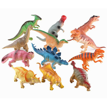 6PCS set 15-18cm Dinosaur toys Action figures Dinosaur brinquedos Models Rubber Simulation Baby rattle Boy kid toys