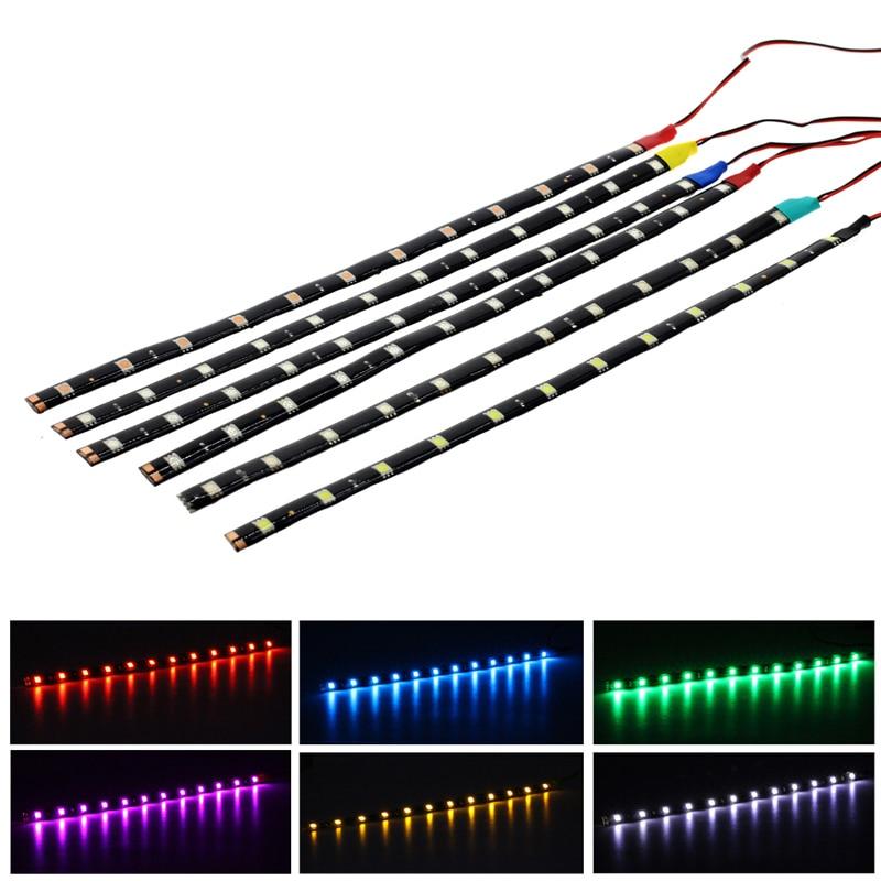 12 V Led strip 5050 Flexible Waterproof 30cm LED Car Led Strip Lights Lamp For Car Auto Daytime Running light lamp Tape String