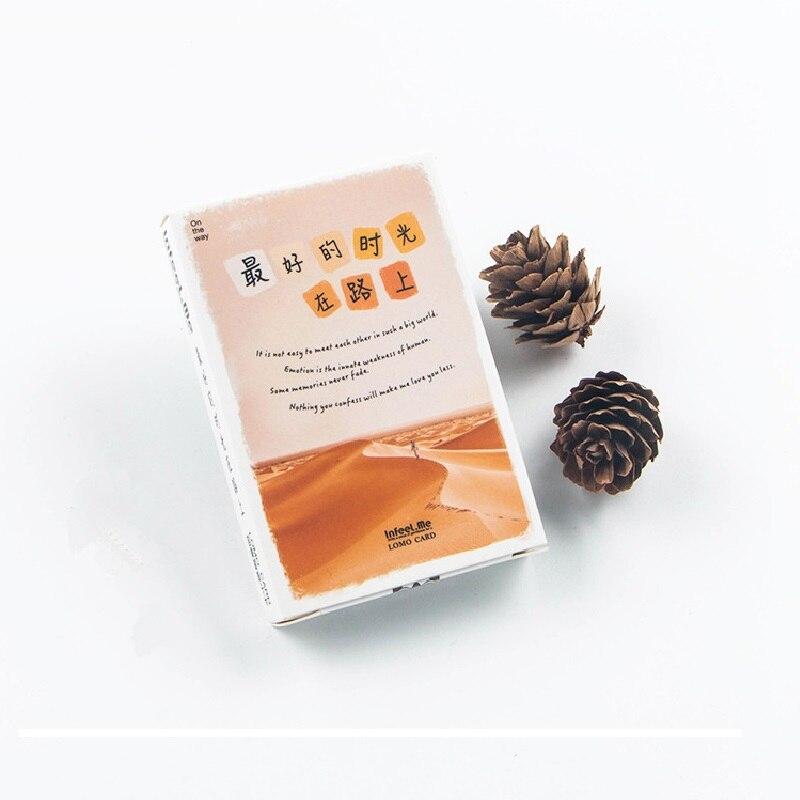 Aggressiv 28 Blätter/set Die Beste Zeit Ist Auf Dem Weg Lomo Karte Mini Postkarte/gruß Karte/weihnachten Geschenk Karte Visitenkarten