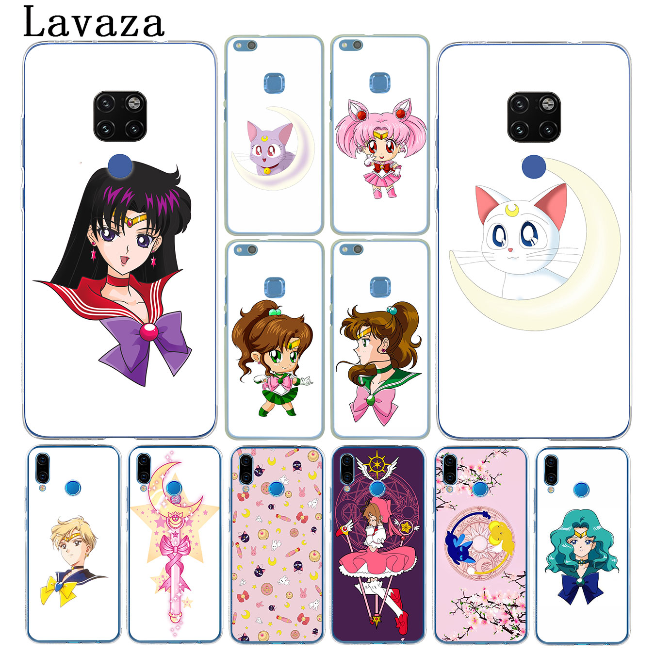Lovely Lavaza Sailor Moon Cartoon Hard Phone Case For Huawei Mate 20 P20 Pro 10 Lite For Huawei Nova 4 3i 3 2i Lite 2017 Cover Careful Calculation And Strict Budgeting Phone Bags & Cases Cellphones & Telecommunications