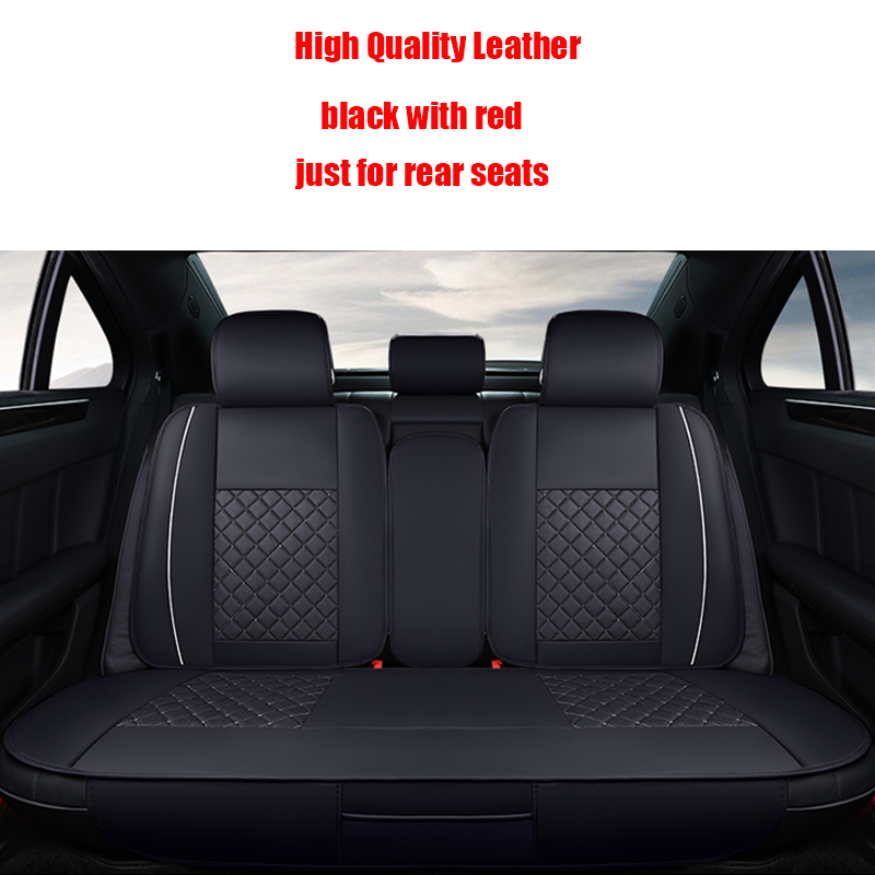 (Back seat covers)Leather Car Seat Cover For peugeot All Models 205 307 206 308 407 207 406 408 301 607 3008 accessories styling for peugeot 206 207 307 308 301 406 407 3008 new brand luxury soft pu leather car seat cover front