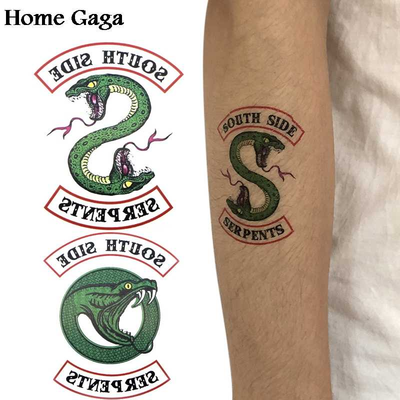 Homegaga 2pcs Riverdale DIY Temporary Body Art para Women Shoulder Arm Transfer Tattoo Makeup Stickers party cosplay D1073