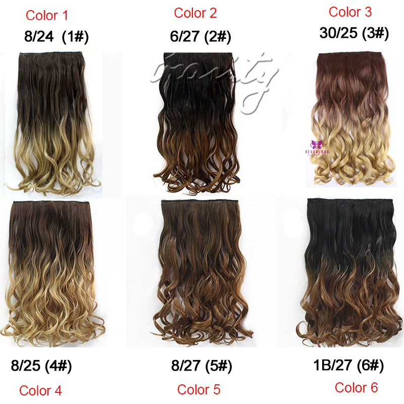Hot Sale 24 60cm Curly Wavy One Piece Hair Extentions 3 4 Full Head