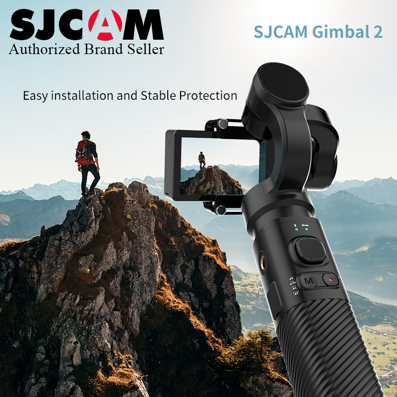 2019 New ~ 3 Axis Bluetooth Handheld Gimbal Stabilizer for SJCAM Action Camera SJ Gimbal 2 Support Rolling Angle 320 degree