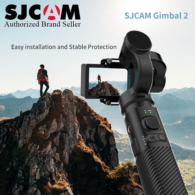 2019 Nouveau ~ 3-Axe Bluetooth De Poche Cardan Stabilisateur pour SJCAM Action Caméra SJ-Cardan 2 Support Roulant angle 320 degrés