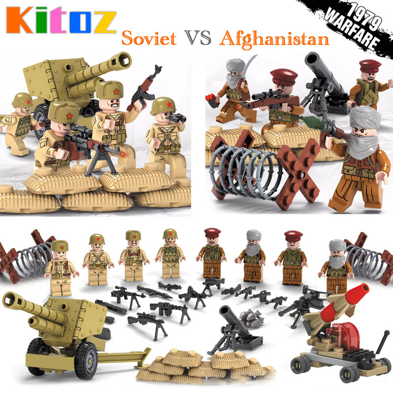 WW2 Classic Military Figures Kit Soldier Building Blocks Army New Weapons Model