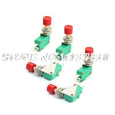 5PCS 16A 125/250VAC SPDT 3Pins Red Push Button Micro Switch Microswitch KW3-0Z-2 [vk] z 01h b switch snap act spdt 100ma 125v switch
