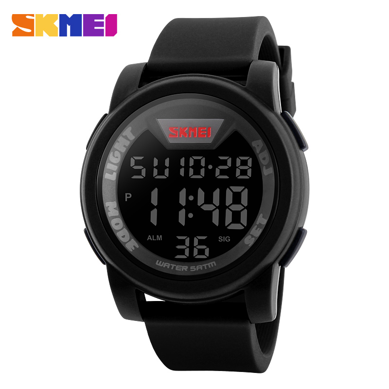 New Brand SKMEI Watch Men Military Sports Watches Fashion Silicone Waterproof LED Digital Watch For Men Clock digital-watch 2016 new arrival ultra thin fashion brand women men sports watch silicone wristwatch digital led watches