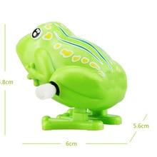 Заводная игрушка-лягушка, цепочка на прыжках, ностальгические классические игрушки, дети должны присутствовать, животное, пластиковая игрушка, игрушка для детей, подарки, модель