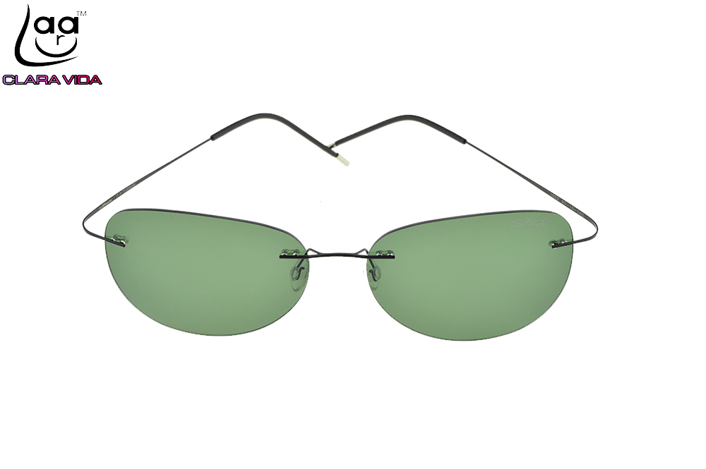 CLARA VIDA Brand GENUINE B-Titanium Ultra Light Rimless Sunglasses Polarized Nv Driving Mirror Mens Designer Sport Sun Glasses