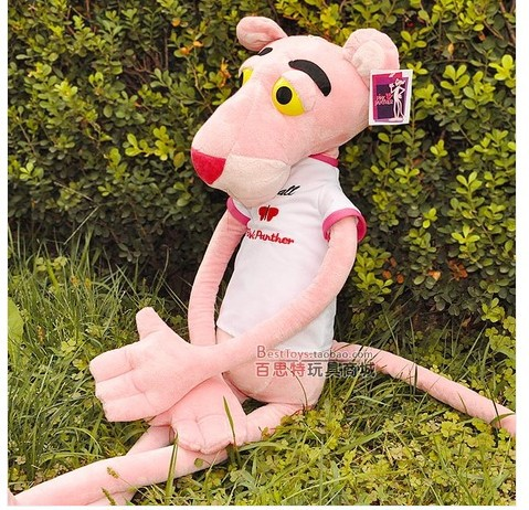 stuffed animal 180cm plush pink panther leopard plush toy doll great gift w237 stuffed animal 90 cm plush dolphin toy doll pink or blue colour great gift free shipping w166