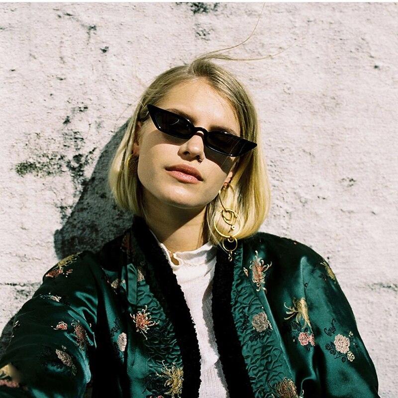 2018 New Fashion Small Sunglasses Zonnebril Dames Sonnenbrille Cateye Sun Glasses For Women UV400 Gafas De Sol Mujer