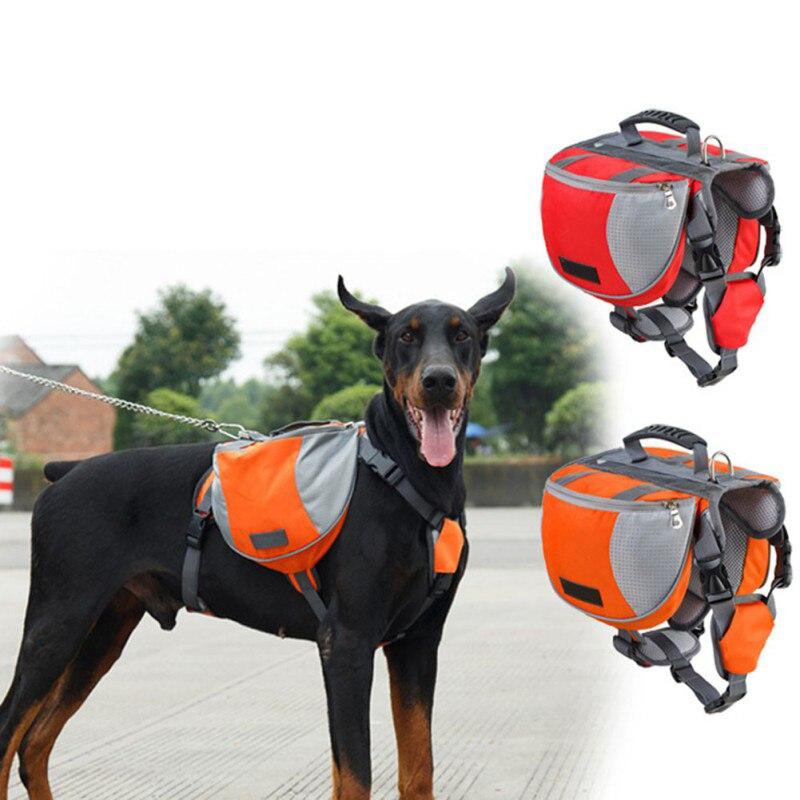 TAILUP Pet Açık Sırt Çantası Büyük Köpek Yansıtıcı Ayarlanabilir Eyer Çantası Demeti Taşıyıcı Seyahat Yürüyüş Kamp Için Güvenlik