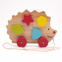 Colorful Wooden Hedgehog Toys Hedgehog Toddler Wooden Pull and Balance Toy Early Education Tools for Children Board Game Erotic