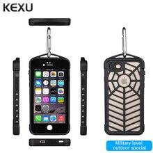 Kexu Роскошные противоударный Водонепроницаемый мощной защитой ТПУ + Силиконовые закаленное Стекло металлической крышкой сотовый телефон чехол для iPhone 7 Plus