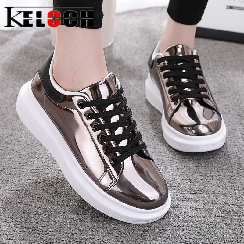 Keloch Newest Women Shoes PU Leather Flats Shoes Comfortable Casual Oxfords Women 2018 Sneakers Women Soft Zapatos Mujer